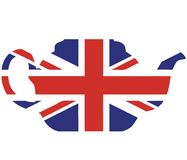 Union jack teapot vector illustration Royalty Free Stock Photos