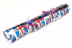 Union Jack-traditioneller Cracker Stockfotografie