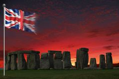 FLAG STONEHENGE UNION JACK royalty free illustration
