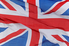 Union Jack. United Kingdom flag flying in the wind Royalty Free Stock Photo