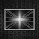 Union Jack van Grunge kenteken Royalty-vrije Stock Afbeeldingen
