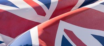 Union Jack Waving Flag B Close Up Royalty Free Stock Photos