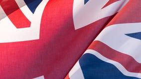 Union Jack Waving Flag C Close Up Royalty Free Stock Images