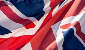 Union Jack Waving Flag A Close Up Royalty Free Stock Image