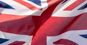 Union Jack Waving Flag D Close Up Stock Photography