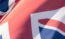 Union Jack Waving Flag E Close Up Stock Photos