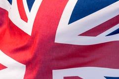 Union Jack Waving Flag H Close Up Stock Photography