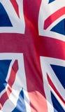 Union Jack Waving Flag I Close Up Royalty Free Stock Photo