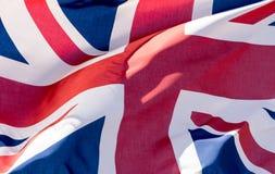 Union Jack Waving Flag J Close Up Royalty Free Stock Images