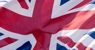 Union Jack Waving Flag K Close Up Royalty Free Stock Photography