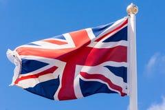 Union Jack Waving Flag Stock Photo