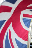 Union Jack in Wind Royalty Free Stock Photography