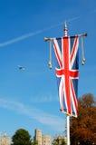 Union Jack am Windsor Schloss, London Lizenzfreie Stockbilder