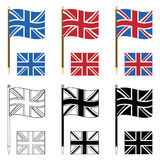 Union jacks Royalty Free Stock Image