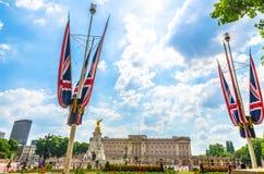 Union Jacks at Buckingham Palace, London Stock Images