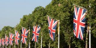 Union jacks on London street. United kingdom Stock Photography