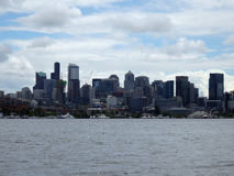 Union Lake and Seattle cityscape Royalty Free Stock Images