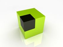 Union of large and small cubes Royalty Free Stock Image