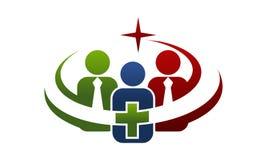 Union Logo Design Template de santé illustration stock