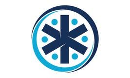 Union Logo Design Template de santé illustration de vecteur