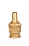 Union med en adapter för en bevattna leda i rör eller pumpa Arkivbilder