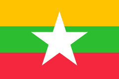 Union of Myanmar or Burma flag. Original and simple Union of Myanmar or Burma flag isolated vector in official colors and Proportion CorrectlyThe Myanmar or Stock Photography