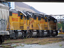 Union Pacific railroad freight train  Royalty Free Stock Images