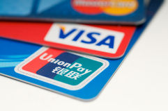 Union pay credit card royalty free stock photos