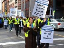 Union Protest in Ottawa Stock Photo
