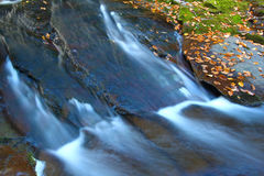 Union River Gorge Michigan. Cascades of the Union River Gorge in Porcupine Mountains Wilderness State Park Stock Image
