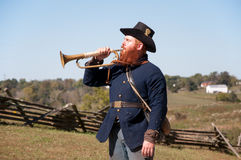 Union soldier with bugel Stock Images