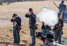 Union Soldiers Attack Royalty Free Stock Photo