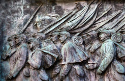 Union Soldiers Charging US Grant Statue Memorial Capitol Hill Wa. Union Soldiers Charging Ulysses US GrantCivil War Memorial Capitol Hill Washington DC.  Created Royalty Free Stock Image
