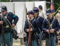 Union  Soldiers Royalty Free Stock Photo