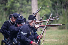 Union Soldiers Fight Back Royalty Free Stock Photos