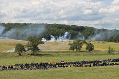 Union soldiers at Gettysburg Royalty Free Stock Photos