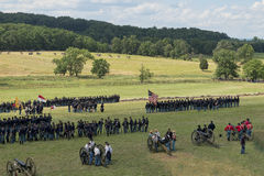 Union soldiers at Gettysburg Stock Photography