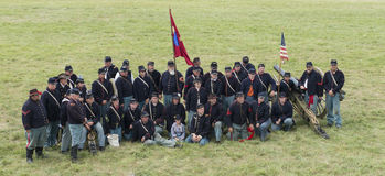 Union soldiers at Gettysburg Royalty Free Stock Photo