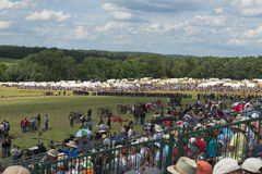 Union soldiers at Gettysburg. Soldiers and spectators at the 150th anniversary of the battle of Gettysburg, Pennsylvania Stock Images