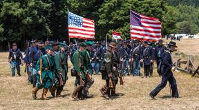 Union soldiers marching Royalty Free Stock Photos
