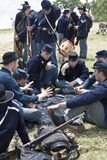 Union Soldiers Playing Cards Stock Photography