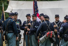 Union  Soldiers Prepare for War Stock Photography