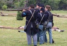 Union Soldiers Take Aim Stock Images