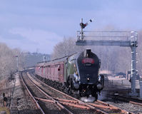 Steam train at Appleby on Settle to Carlisle line Royalty Free Stock Photography