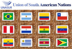 Union of south american nations Royalty Free Stock Photos