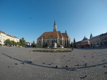 Union Square Cluj. The center of Cluj city. Union square Cluj-Napoca, Transylvania, Romania Royalty Free Stock Photography