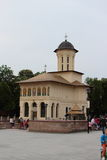 Union Square kyrka i Focsani, Vrancea County, Rumänien arkivfoton