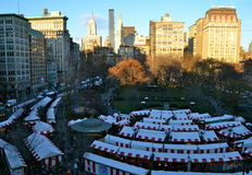 Union Square le 12 décembre 2014 à New York City Photographie stock libre de droits