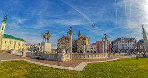 Union Square mit historischem Gebäude, Oradea, Rumänien Lizenzfreies Stockbild