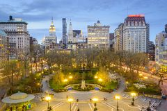 Union Square New York City. New York City, USA cityscape at Union Square in Manhattan Royalty Free Stock Image
